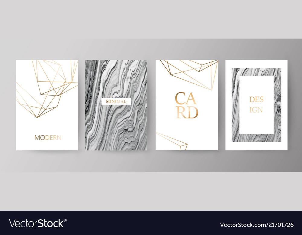Set of modern elegant brochure card background