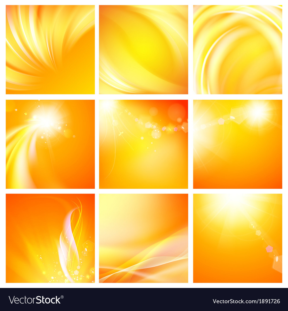 Set of nine abstract backgrounds