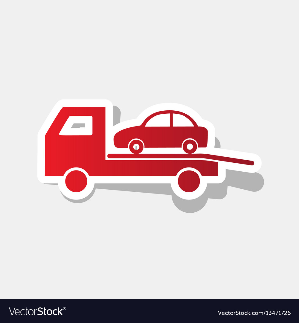 Tow car evacuation sign new year reddish vector image