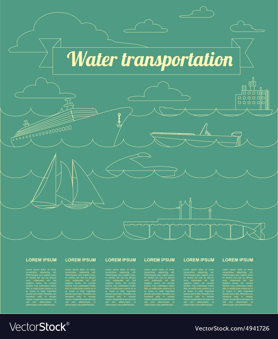 Water transport infographics elements Nautical