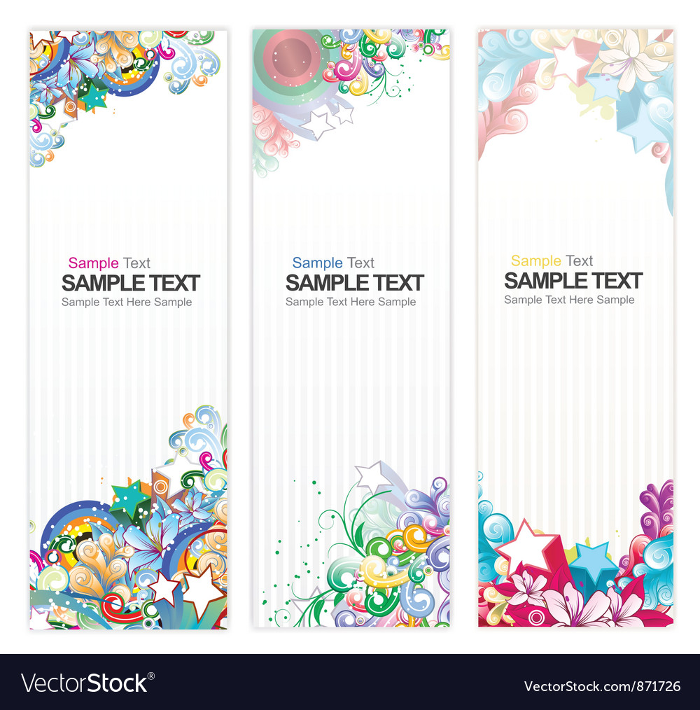 Web banners with floral
