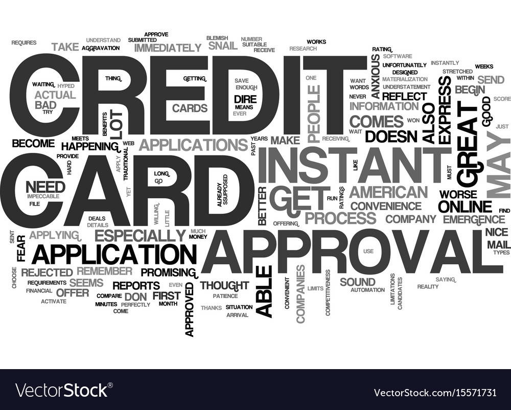 Apply online credit card instant text word cloud