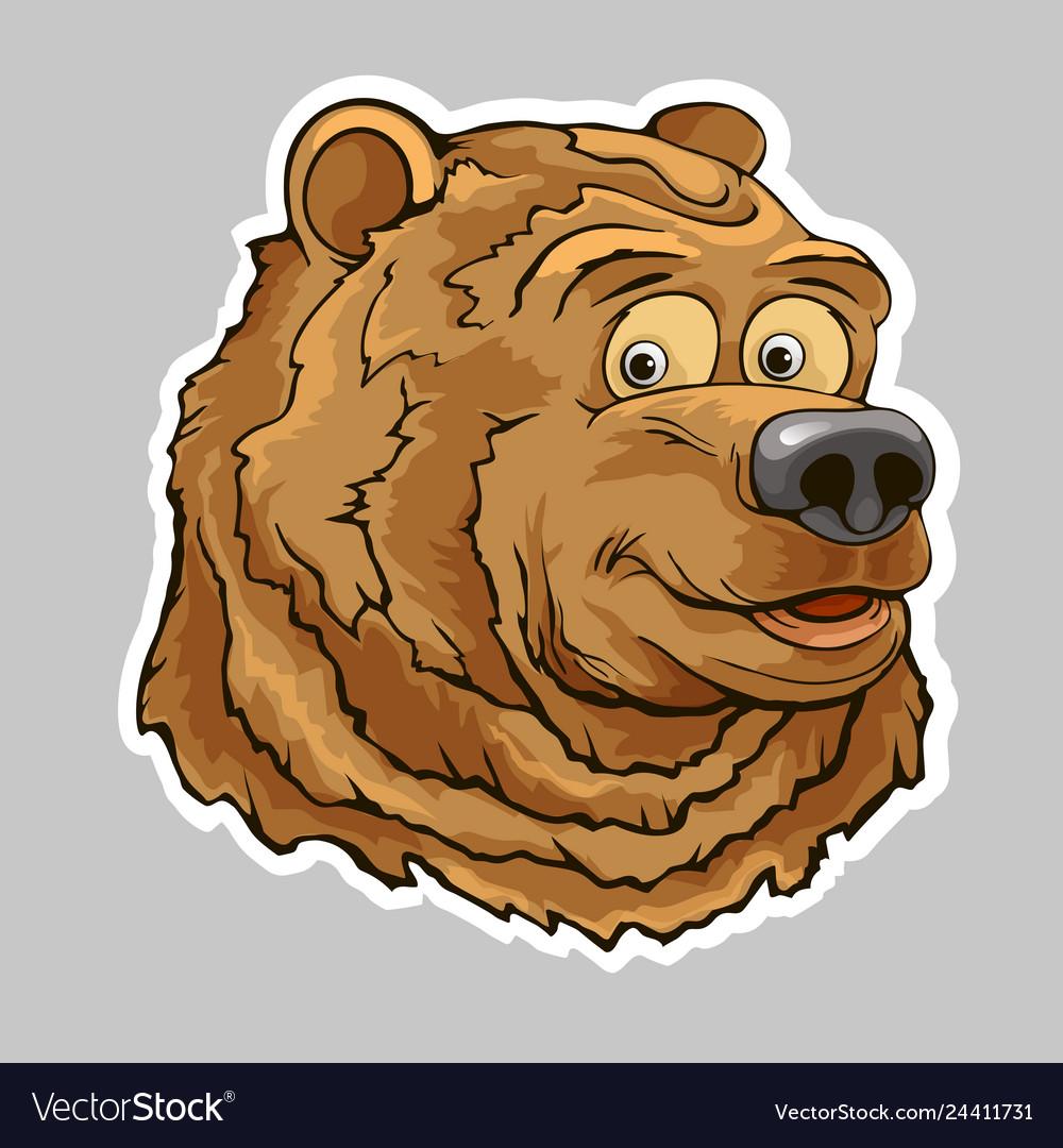 Bear head sticker