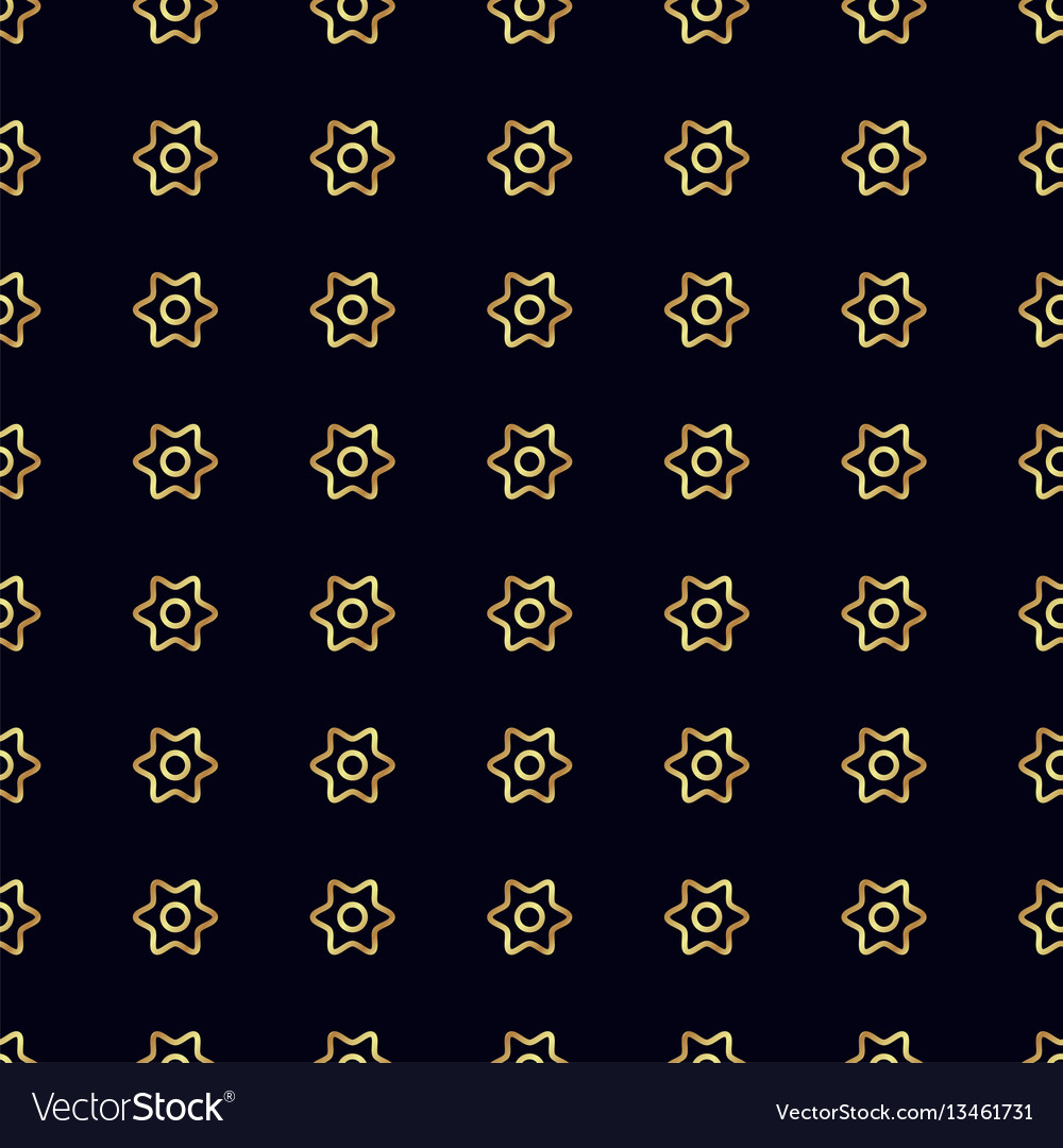 Gold flower seamless pattern