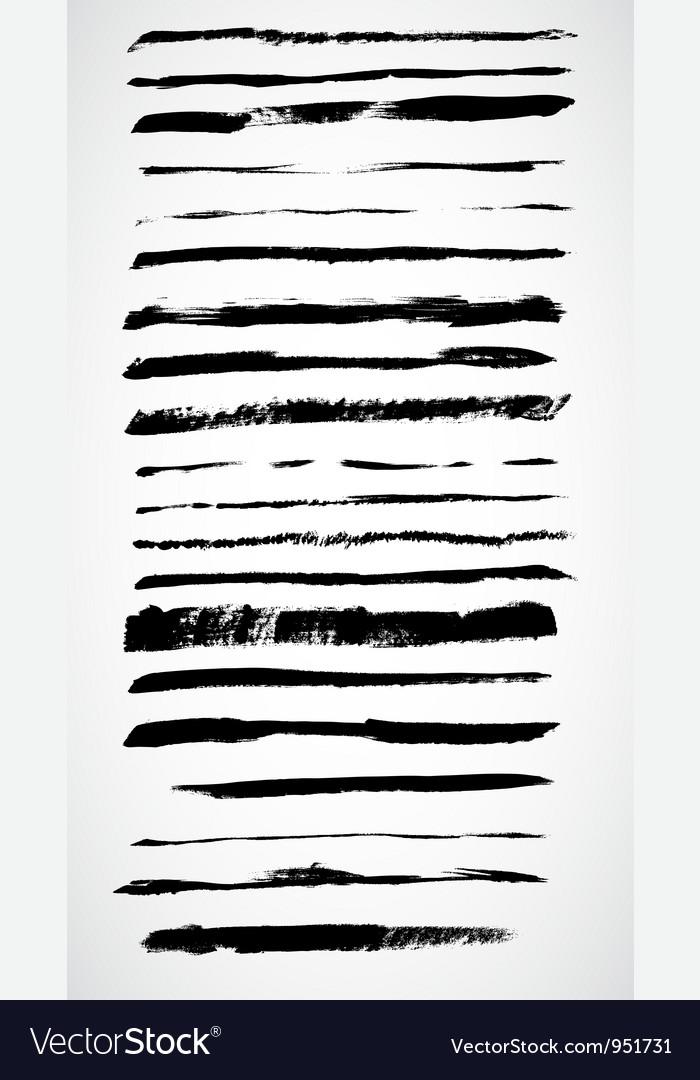 Grunge ink lines vector image