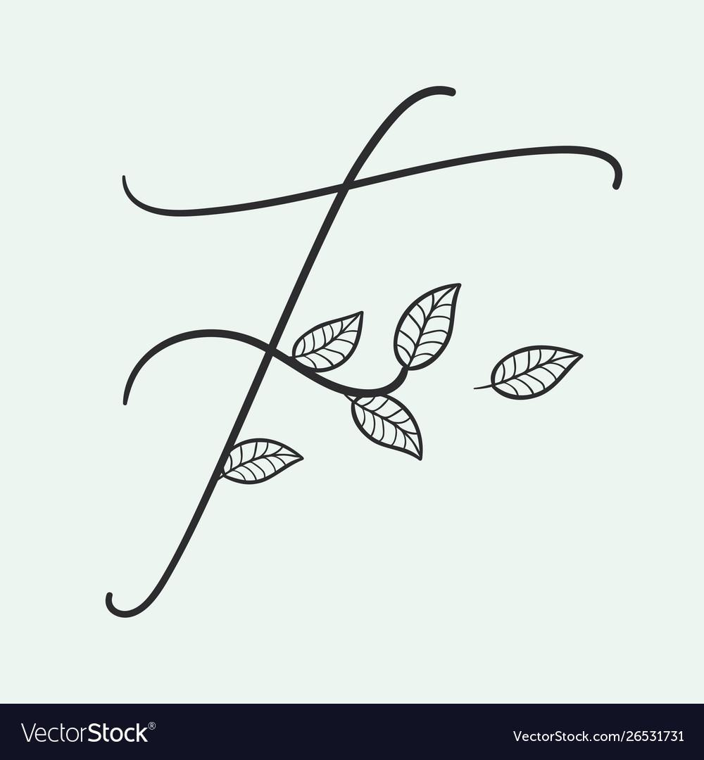Handwritten letter f monogram or logo brand