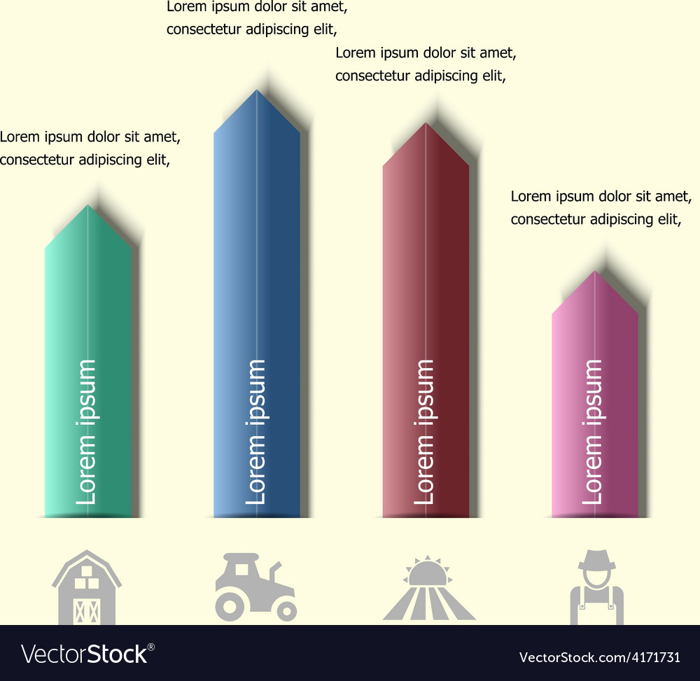 Infographic arrow badge design template vector image
