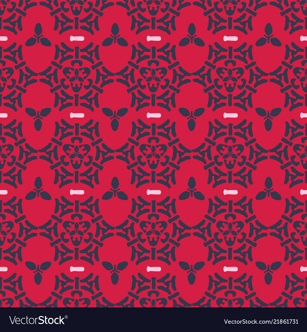 Pink and gray trendy ornamental damask seamless