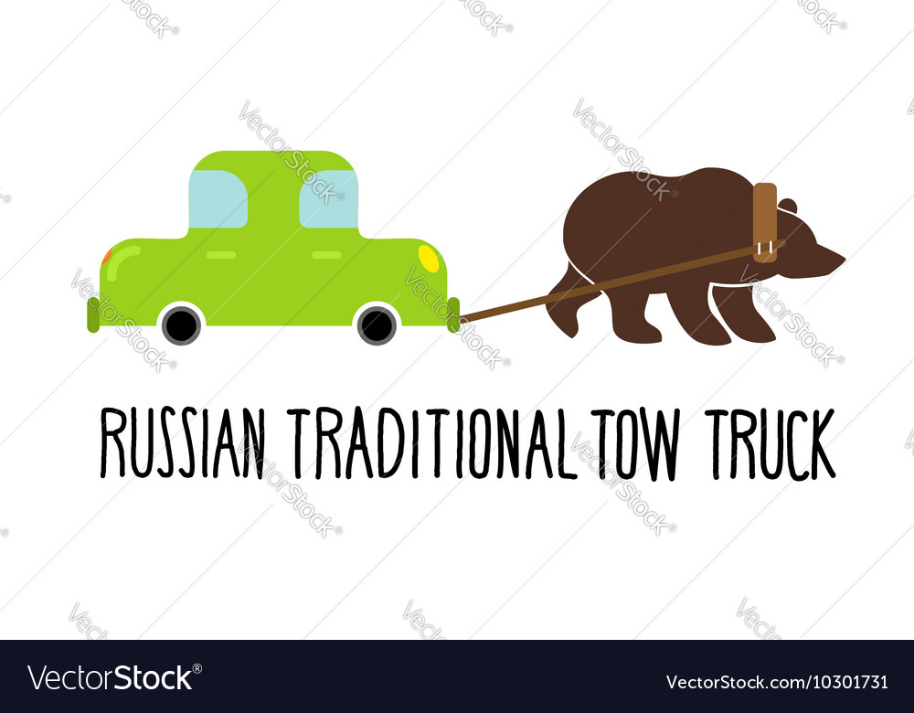Russian traditional tow truck Bear lucky for car