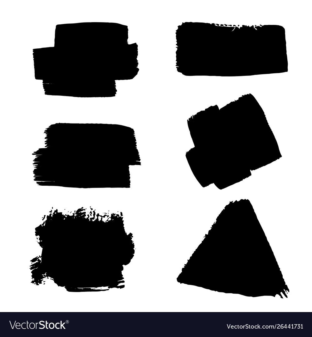 Set black ink splashes and drops black