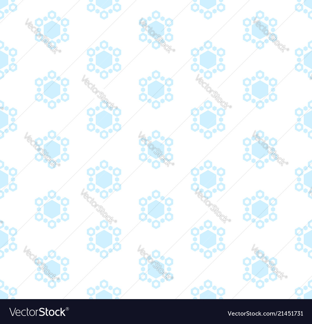 Subtle winter seamless pattern with snowflakes