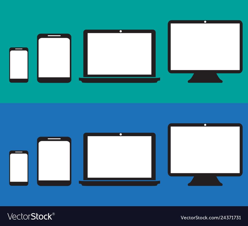 Tablet laptop screen phone flat