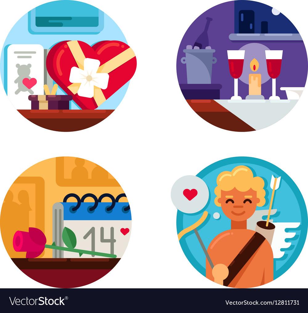 Valentine Day set of icons