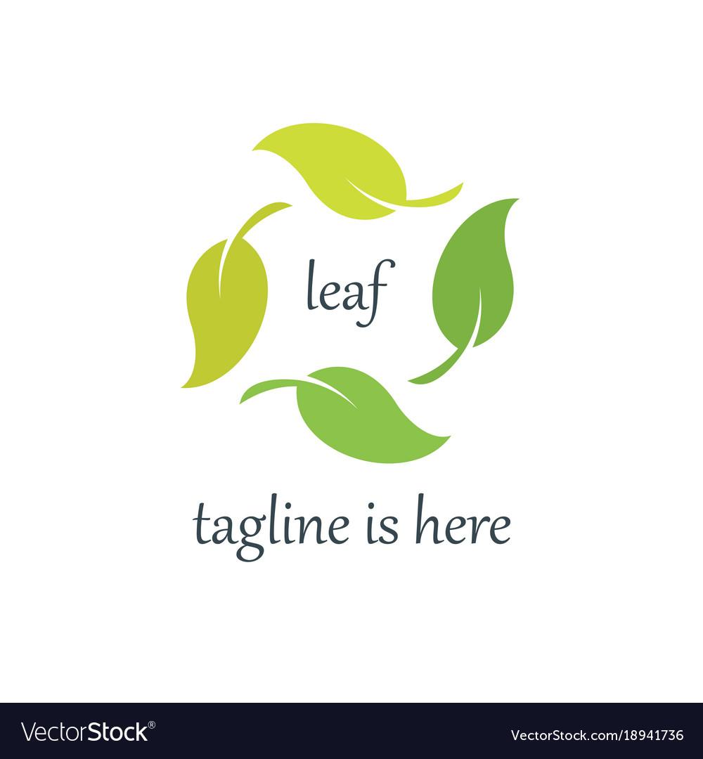4 leaf logo template design