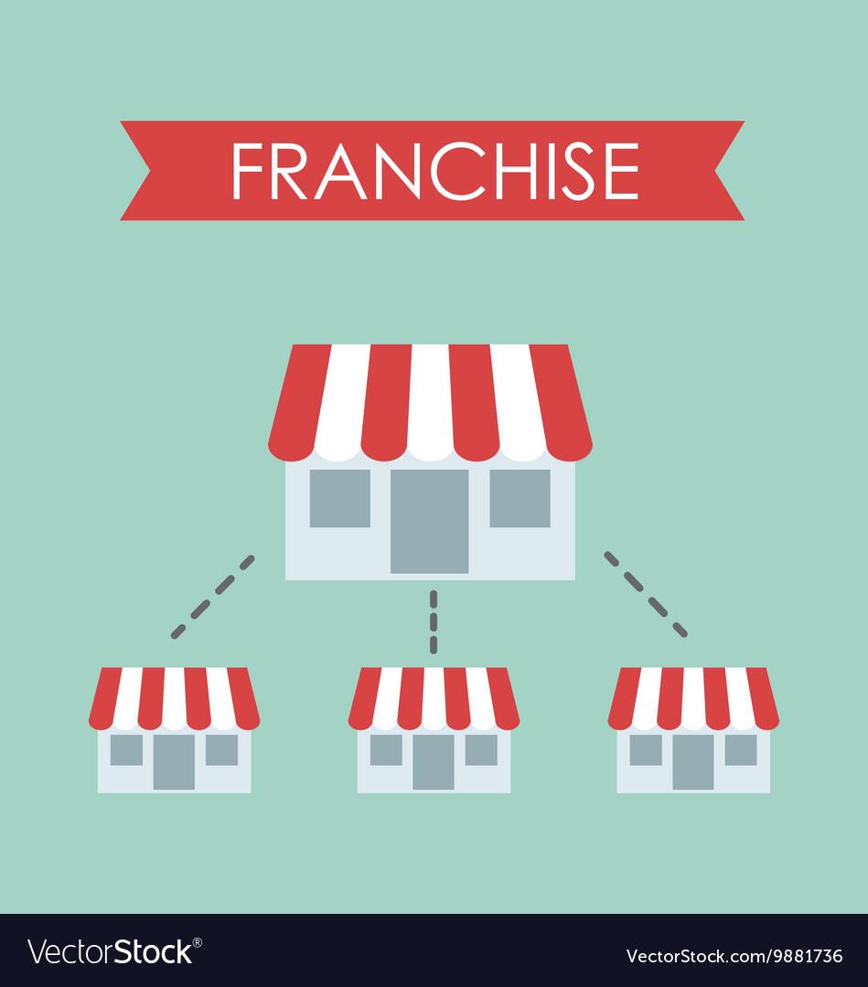 Business concept franchise business vector image