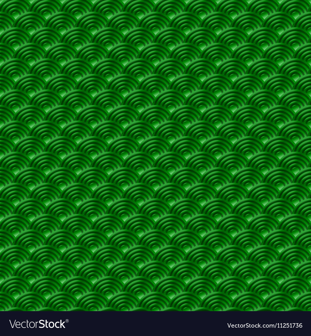 Chinese green seamless pattern dragon fish scales