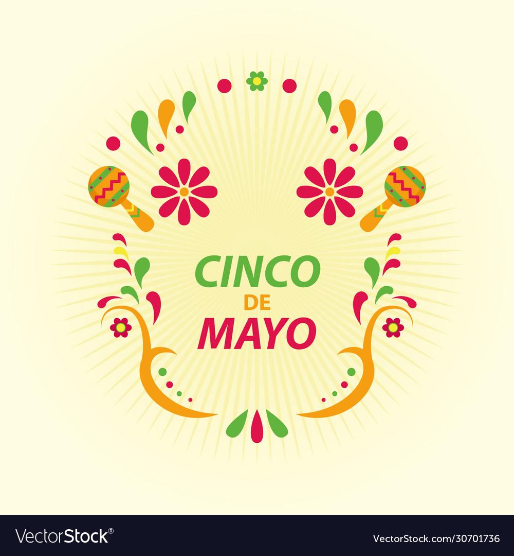 Cinco de mayo festival card