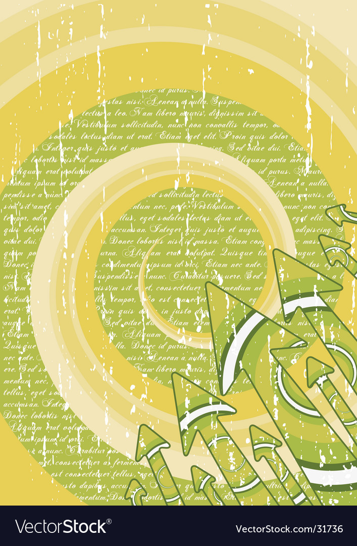Green retro arrows stylish sheet vector image