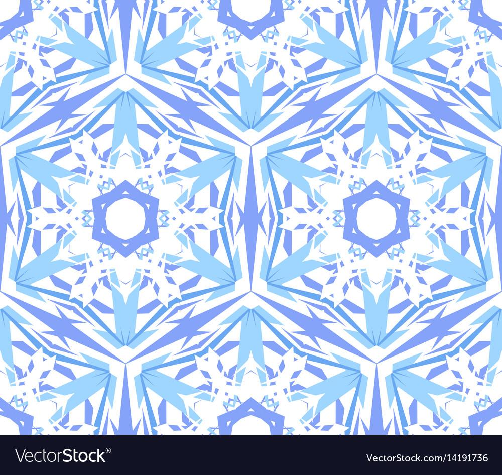 Kaleidoscopic pattern light blue star