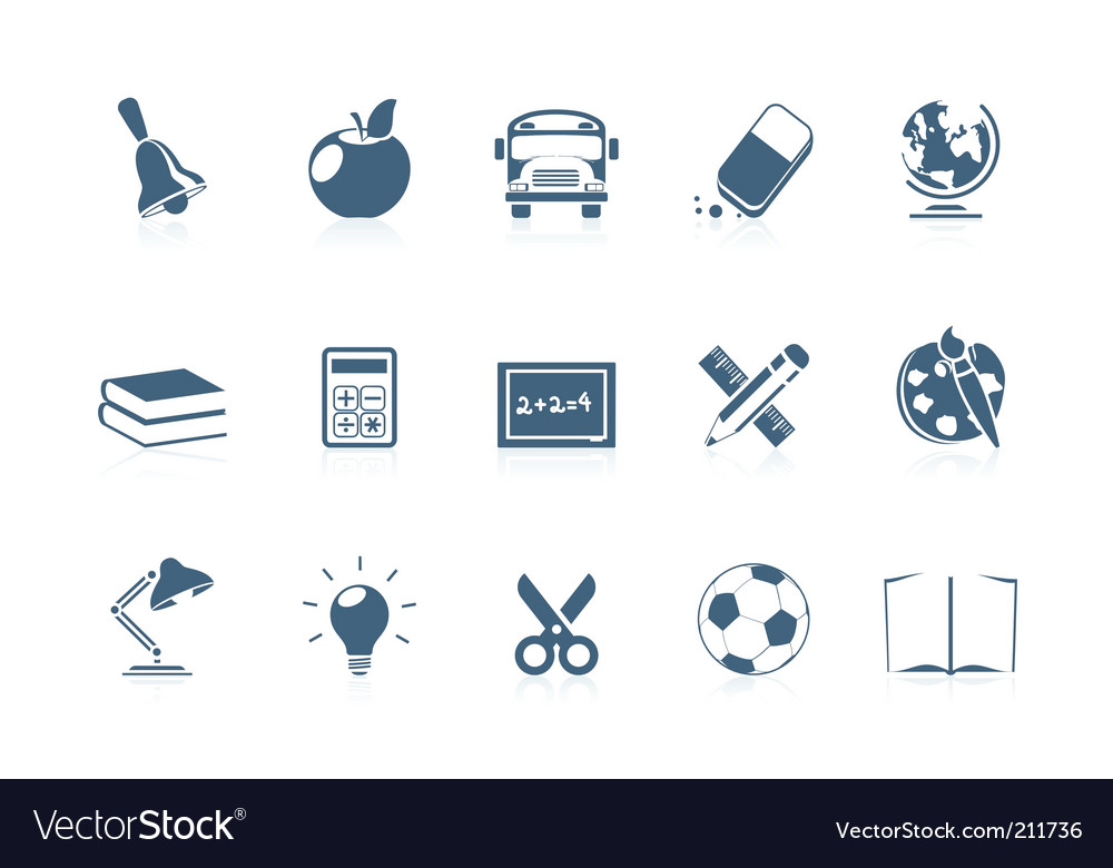 School icons piccolo series