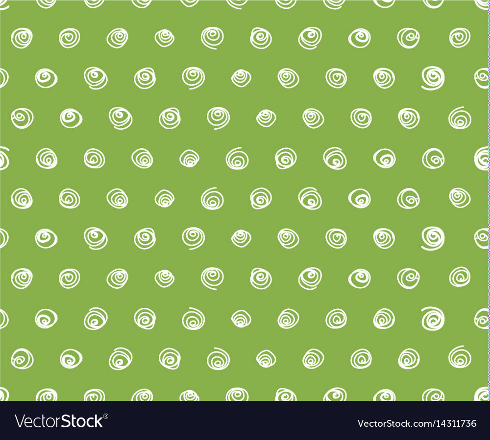 Swirls on greenery background seamless pattern vector image