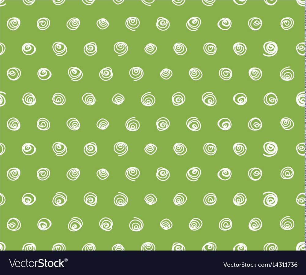 Swirls on greenery background seamless pattern