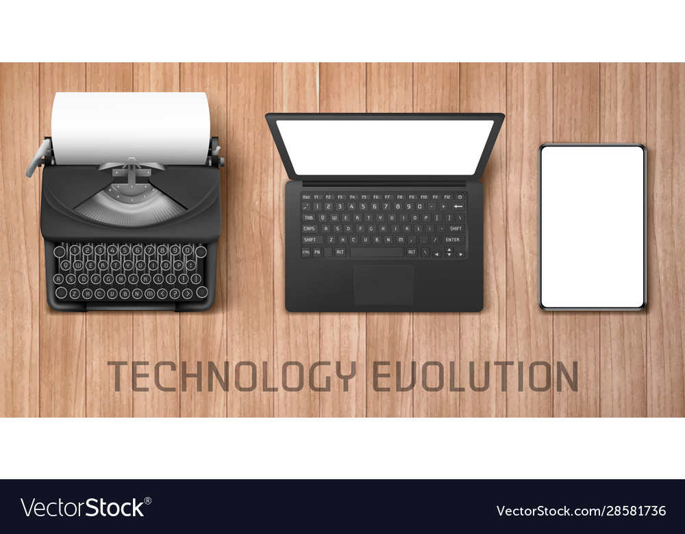 Technology progress from feather to laptop