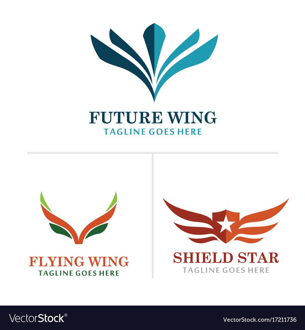 Wing abstract logos