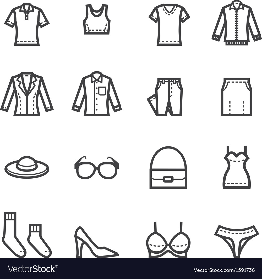 Women Clothing Icons