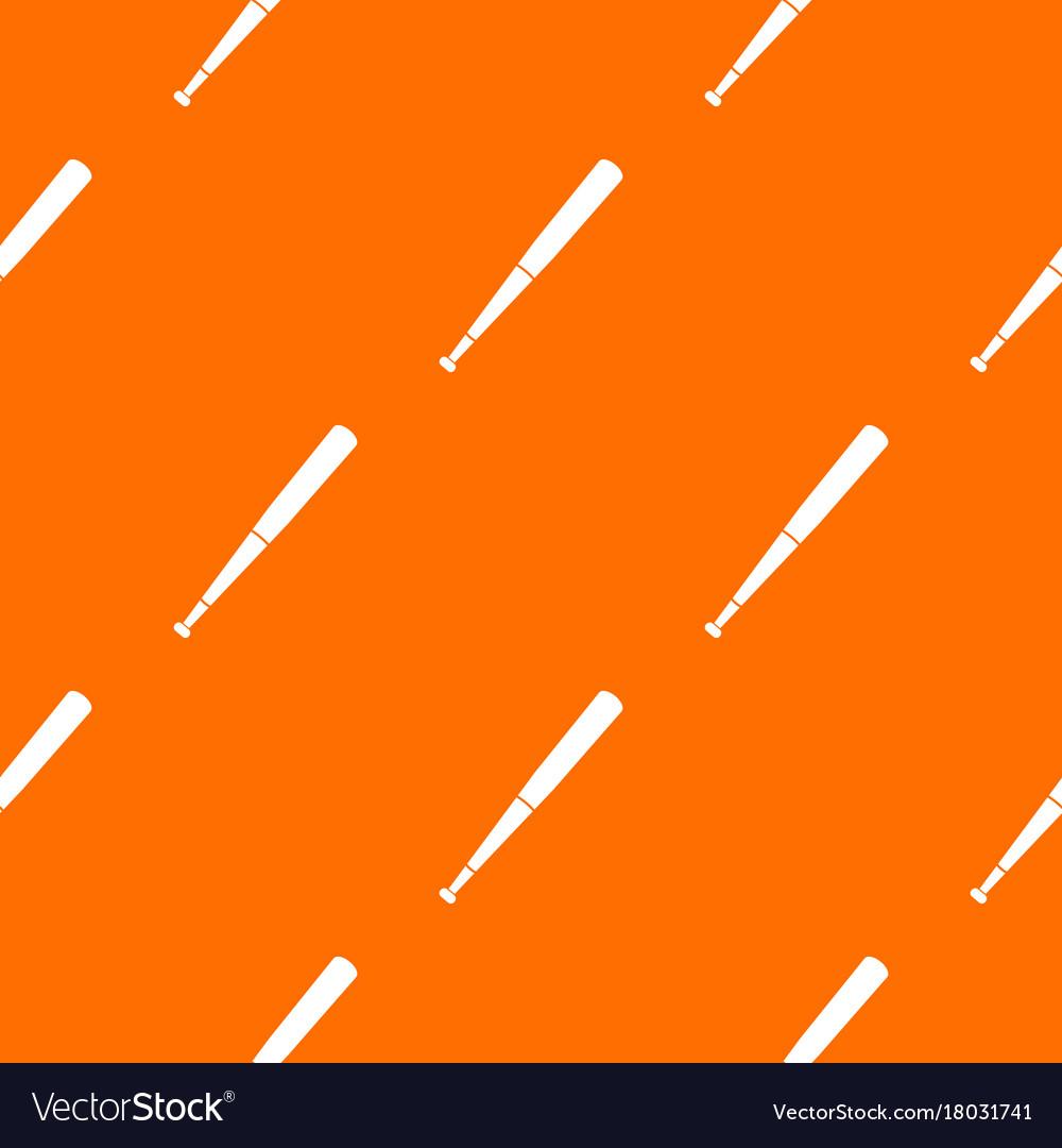 Black Baseball Bat Pattern Seamless Royalty Free Vector