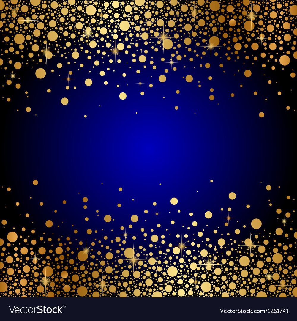 Blue And Gold Luxury Background Royalty Free Vector Image