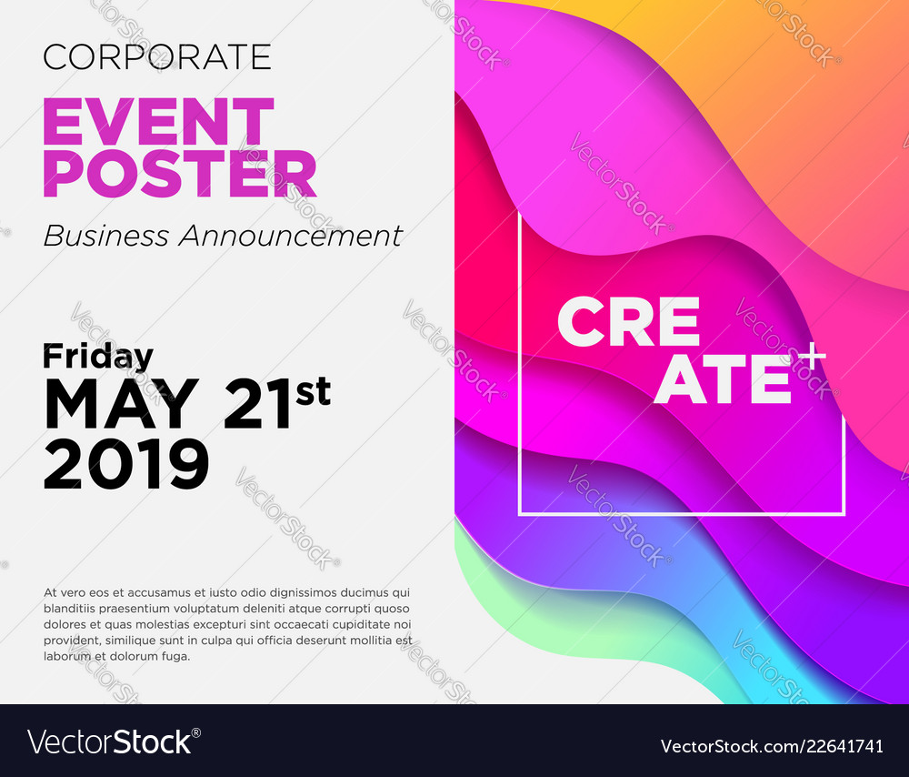 Business announcement card event poster