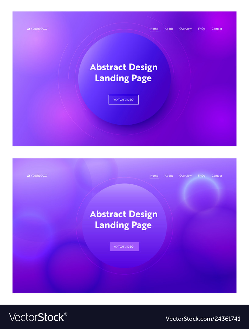 Dark blue purple abstract geometric landing page vector
