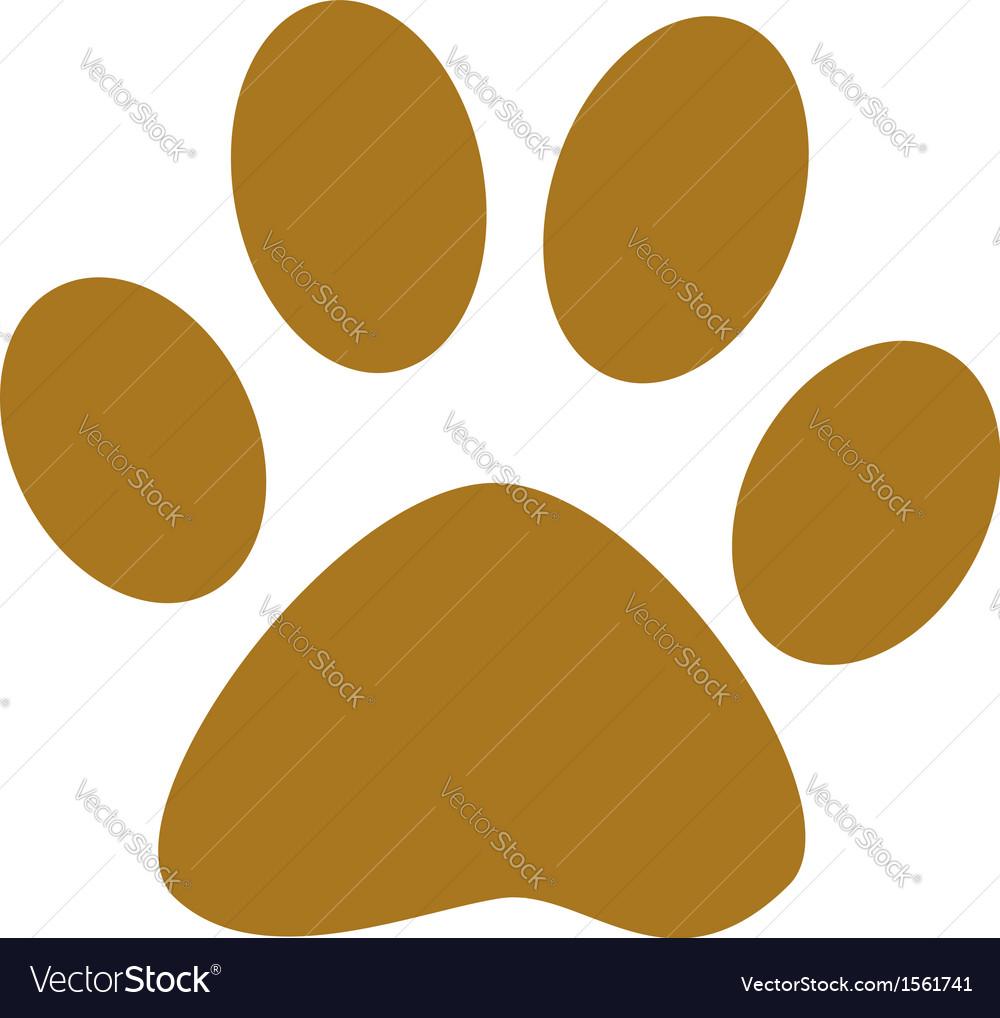 Dog Paw Print Royalty Free Vector Image Vectorstock