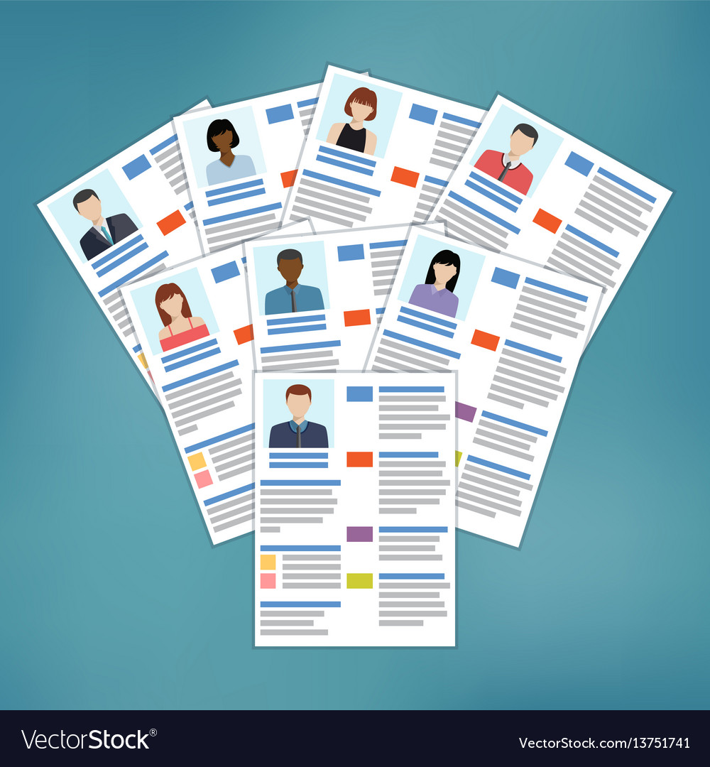 Group Of Resume Royalty Free Vector Image Vectorstock