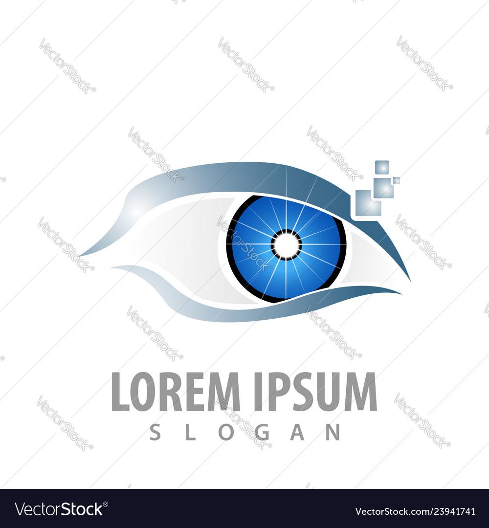 Logo concept design digital eye symbol graphic