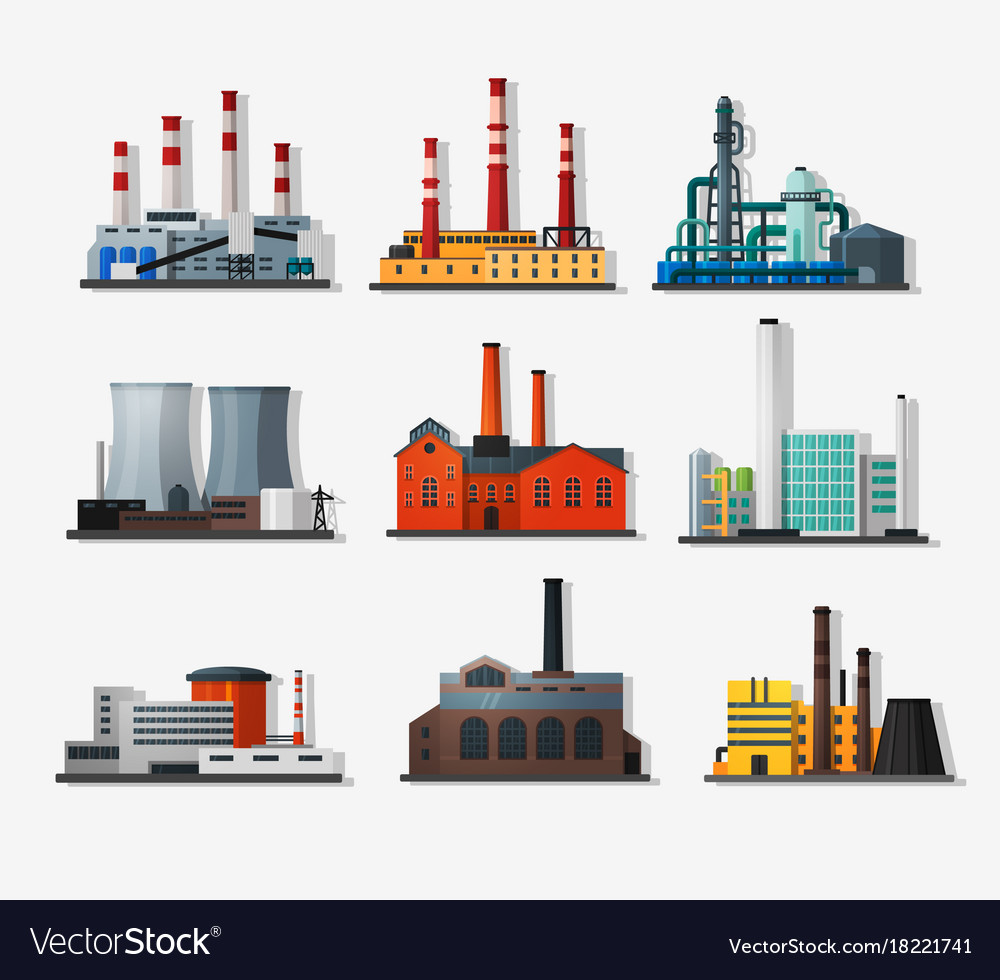 Power plants vector image