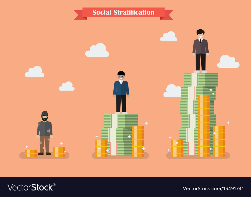social stratification with money royalty free vector image