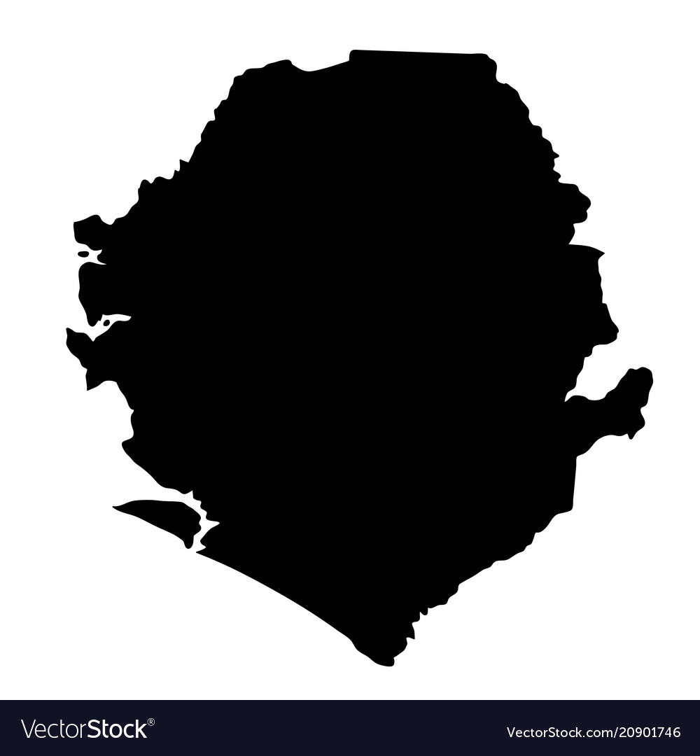 Black silhouette country borders map of sierra