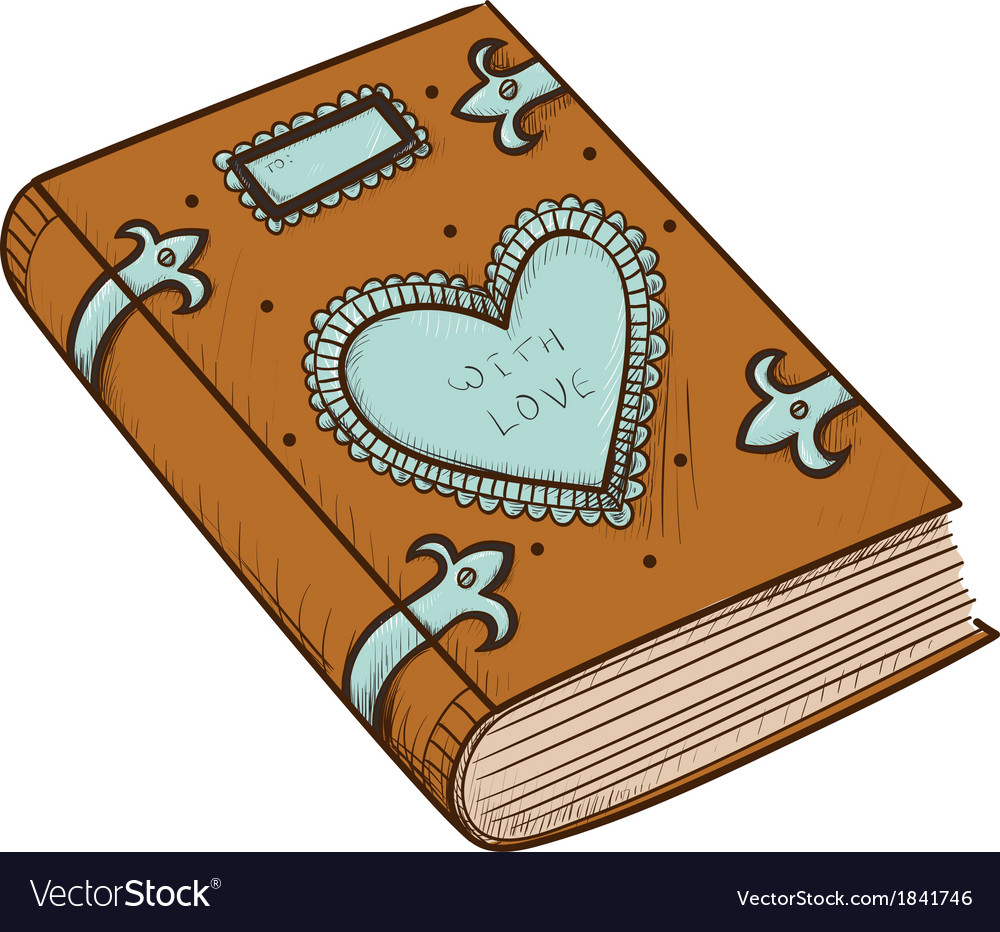 Book with decorative heart