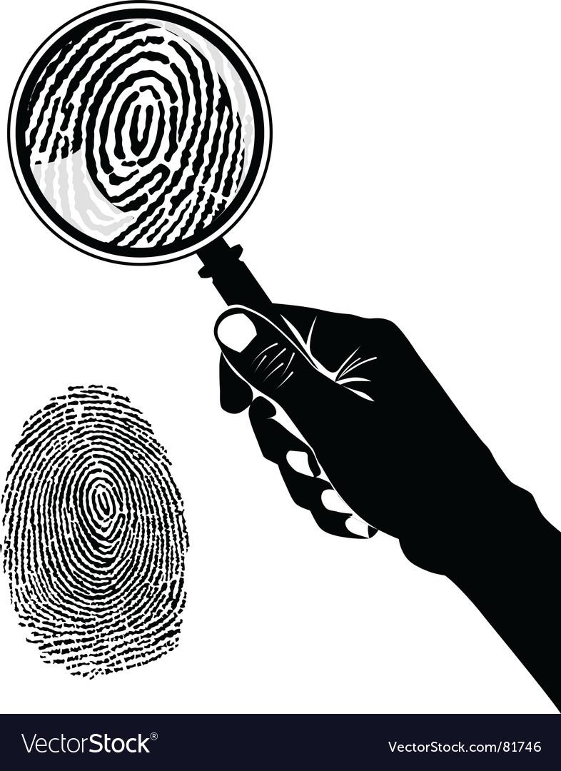 Crime Scene Fingerprint Royalty Free Vector Image