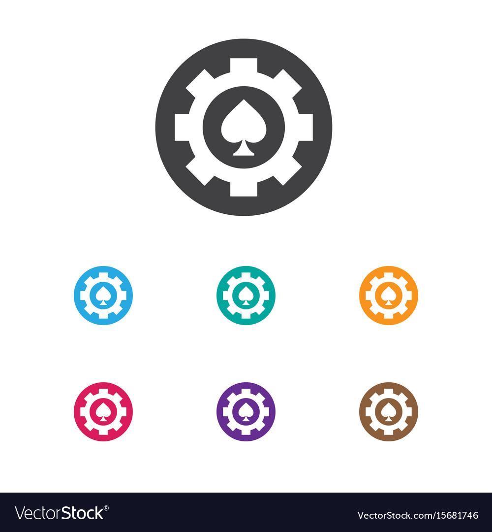 Of casino symbol on poker chip