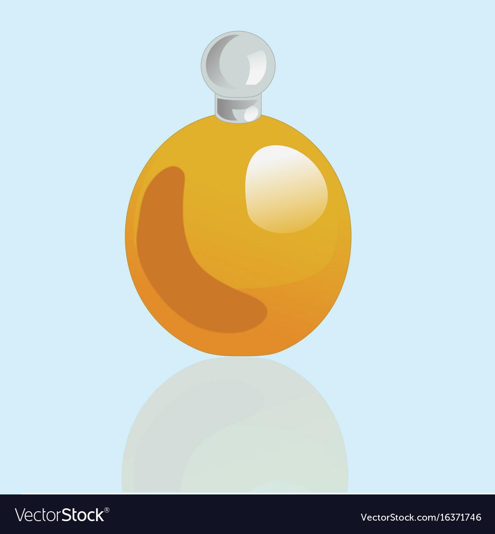 Rotund mockup realistic cosmetic bottle vector image