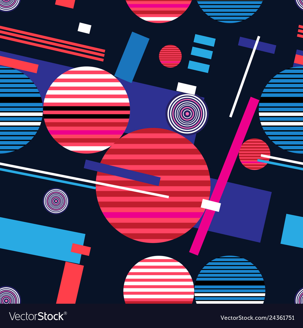Abstract bright geometric seamless pattern