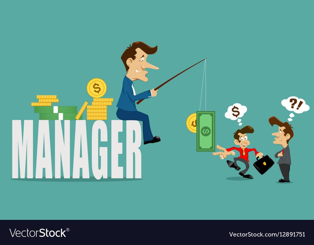 Businessman manager with deceive
