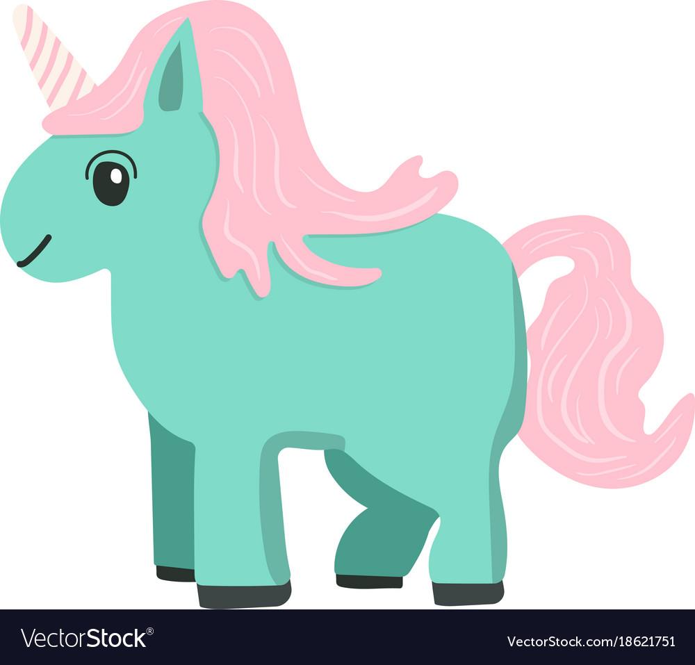 Cartoon style unicorn vector image