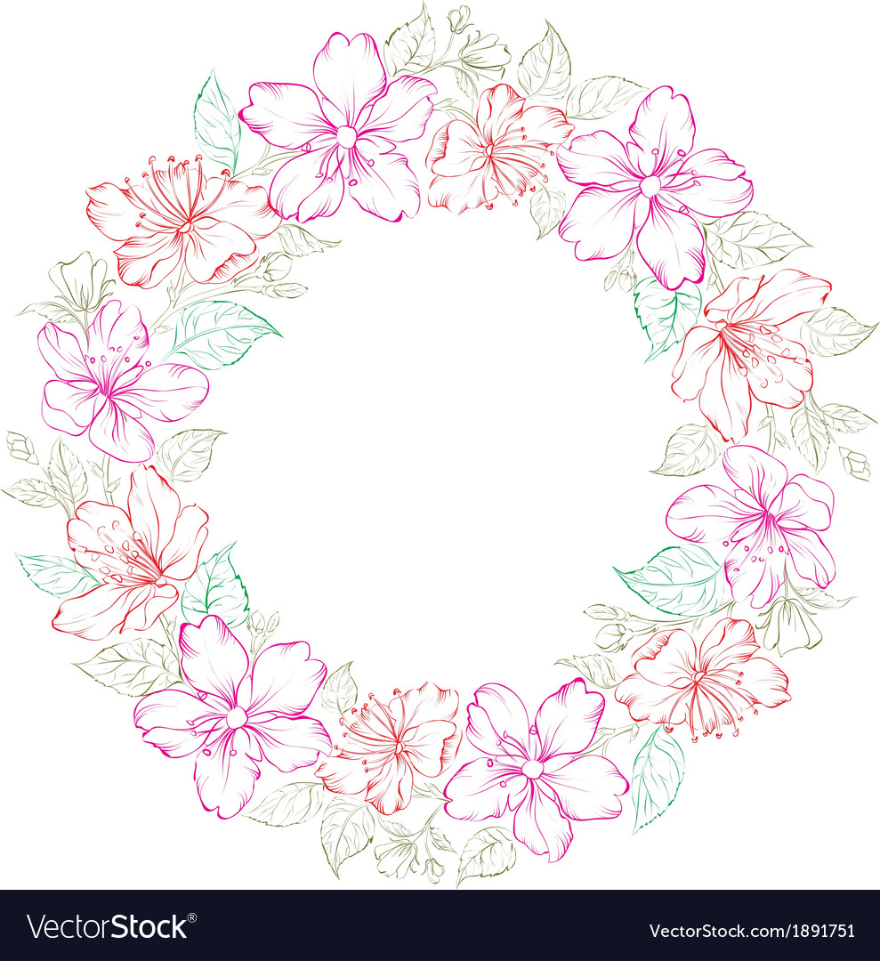 Floral wreath - wedding design