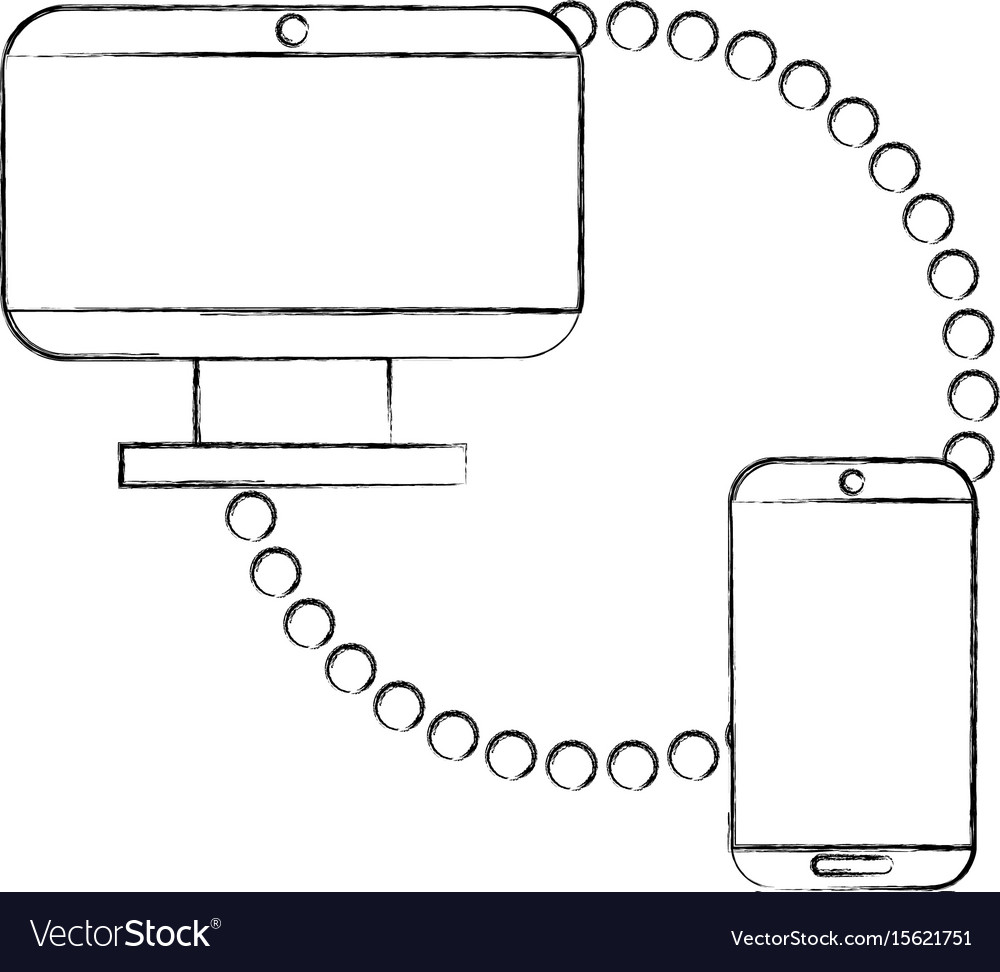 Monitor computer with smartphone