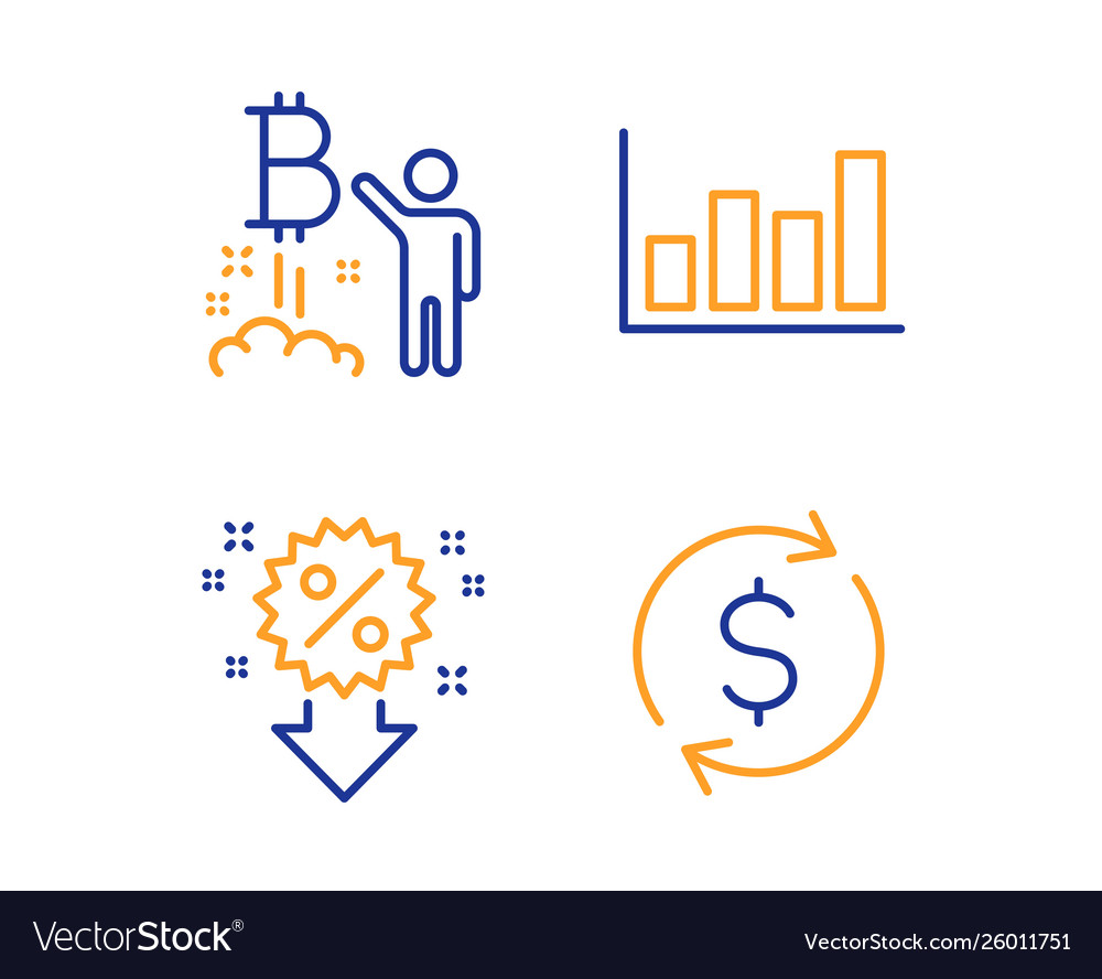 Report diagram bitcoin project and discount icons