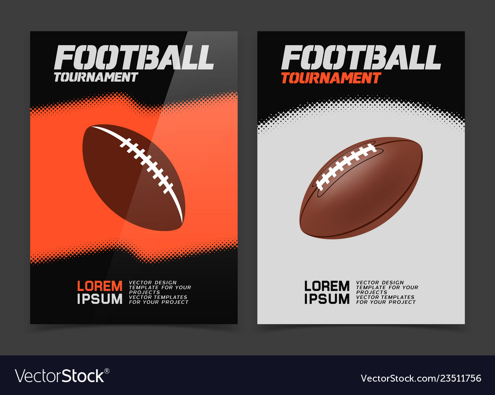 American Football Banner Design Royalty Free Vector Image